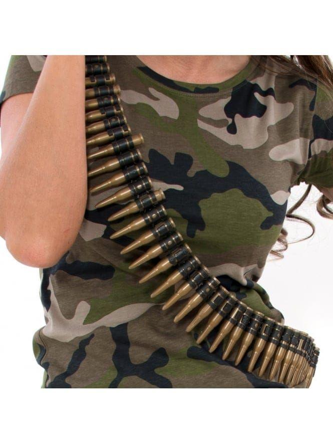 Army Fancy Dress Bullet Belt