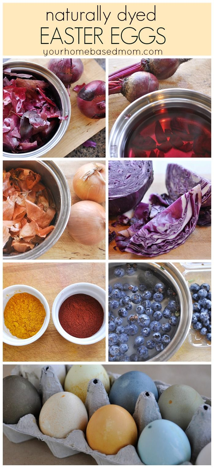 naturally dyed Easter eggs. What a fun idea for the kids to decorate Easter eggs!