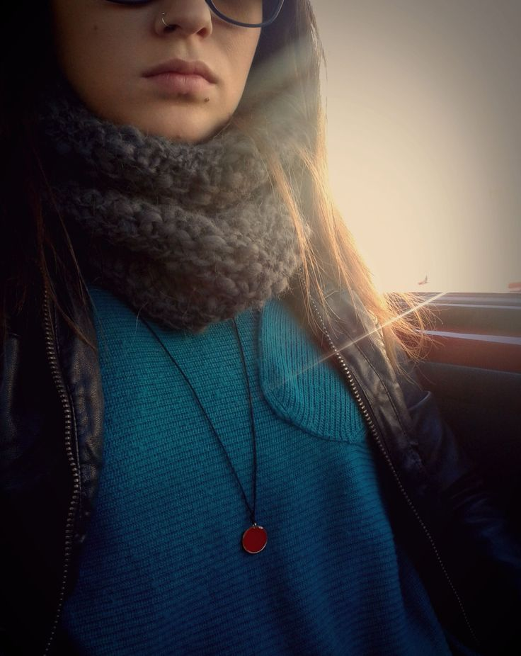 handmade necklace - red