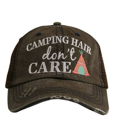 Love this >> Katydid Collection Brown & Coral 'Camping Hair Don't Care' Hat