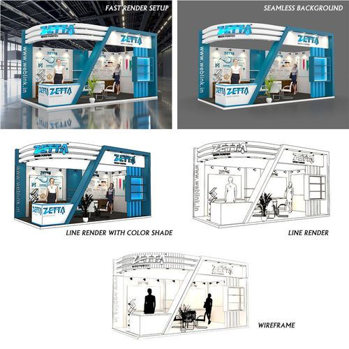 Exhibition Stall Rendering : Best exhibition stall ideas that you will like on