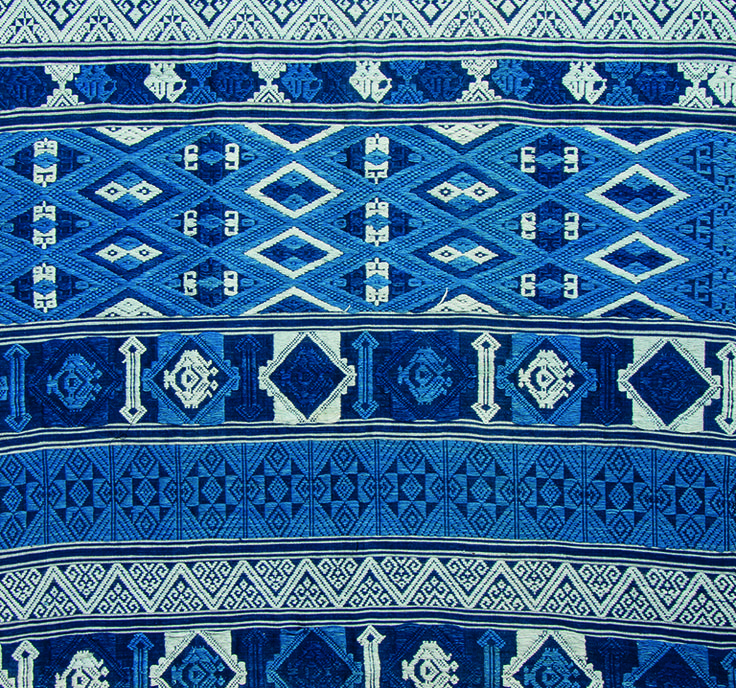 Shades of indigo woven together in a rich tapestry