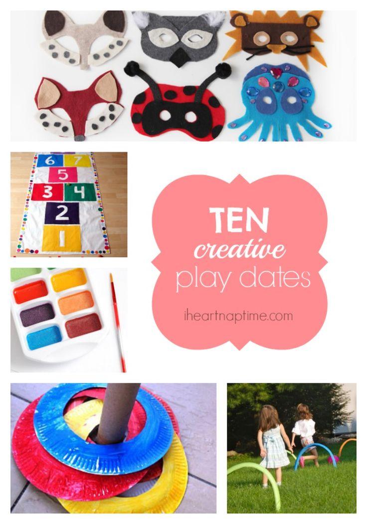 10 creative play date ideas #kids #friendship