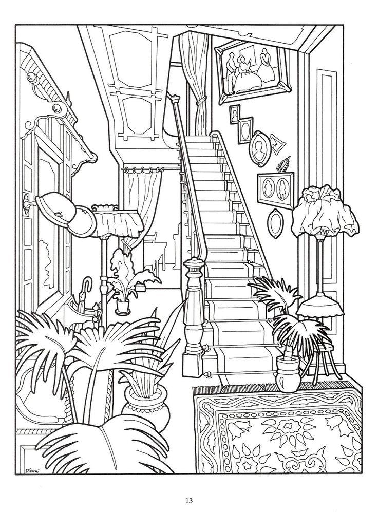162 besten Ausmalbilder Zimmer Bilder auf Pinterest | Malbücher ...
