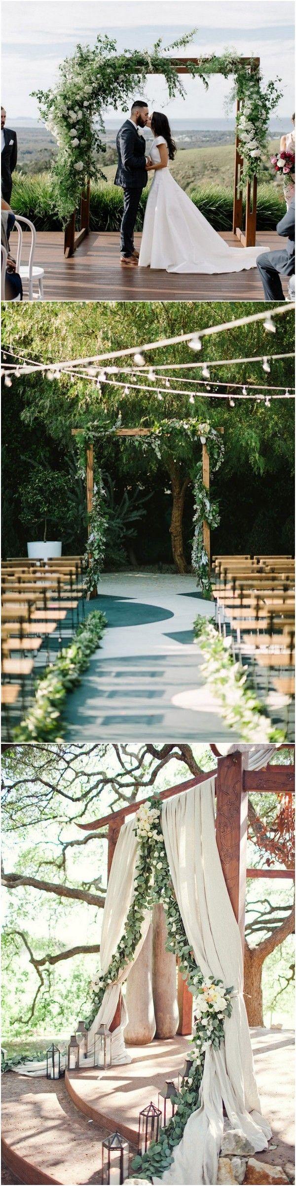 Greenery wedding alter decoration ideas #wedding #weddingideas #weddingdecorations #weddingarches
