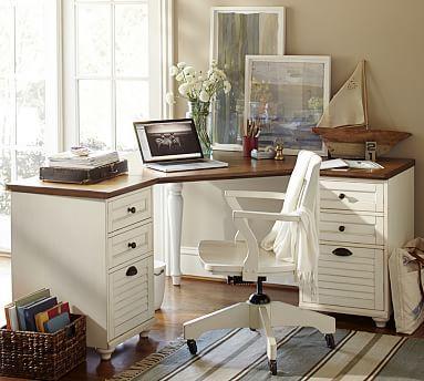 Whitney Corner Desk Set #potterybarn
