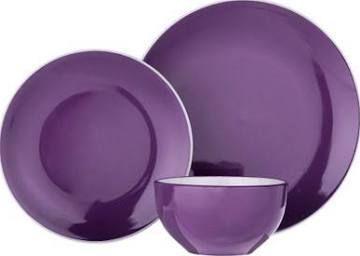 purple dinner sets