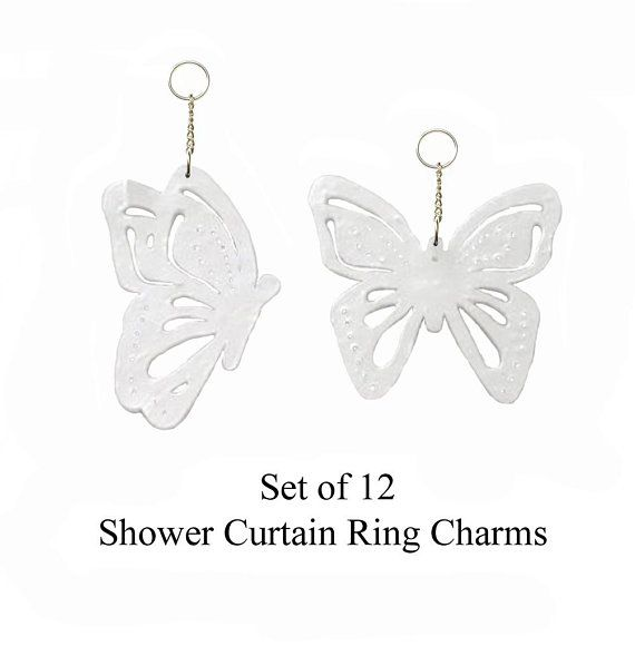 Decorative Shower Curtain Ring Charms Cut And Pierced Butterflies