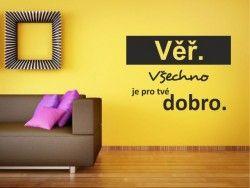 Samolepky a dekorace na zeď citáty & nápisy | dekorace-steny.cz