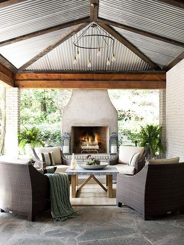 53 Most Amazing Outdoor Fireplace Designs Ever. Cheap Ceiling IdeasMetal ... Part 90