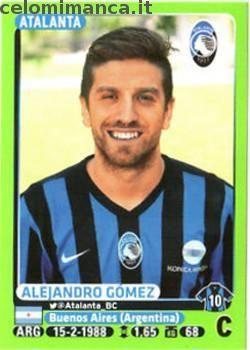 Calciatori 2014-2015: Fronte Figurina n. 21 Alejandro Gómez