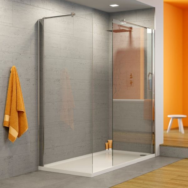 Hydrolux Walk In Shower Enclosure 8mm Glass 1200 x 900mm with 1 x 900mm & 1 x 700mm Wetroom Screens