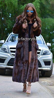 Royal en fausse fourrure de vison coloris tendance manteau classe de Sable Chinchilla Fox Veste Long Gilet marron