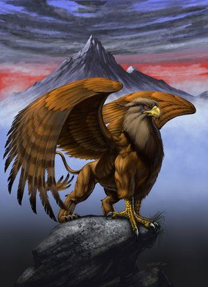 griffin on mountain