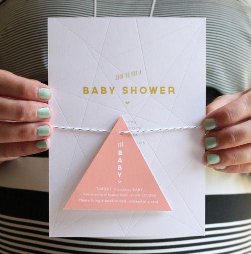 geometric baby shower invitation #frillspaper