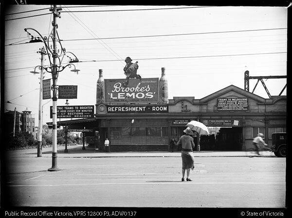 St kilda station 1920s