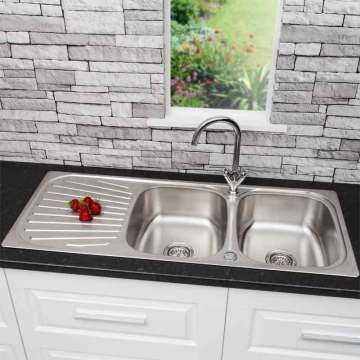Sauber Stainless Steel Kitchen Sink 2 Bowl