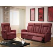 Elran L031 Reclining Sofa and Reclining Chair with Swivel and Glide in Red Product Image