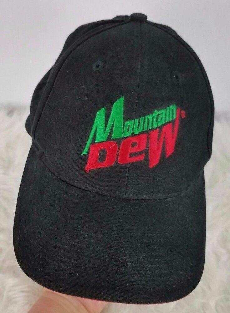 04d6602ec Vintage Mountain Dew Adult Baseball Cap One Size Adjustable Black ...