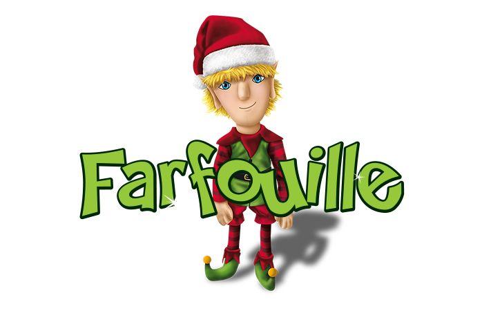 Farfouille - La légende des lutins Bonjour, mon nom est Farfouille. Je suis le lutin en chef de l'atelier du père Noël et je m'assure de faire respecter l'ordre. Je ramasse tous les objets à la traîne et je m'amuse parfois à les faire réapparaître dans des endroits inusités, comme le frigo ou les boîtes à lunch… Nous aurons beaucoup de plaisir ensemble!