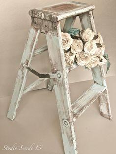Oltre 25 fantastiche idee su vecchie scale di legno su for Scala in legno shabby