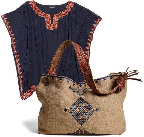 lisa fine and carolina irving top and bag for Lucky brand