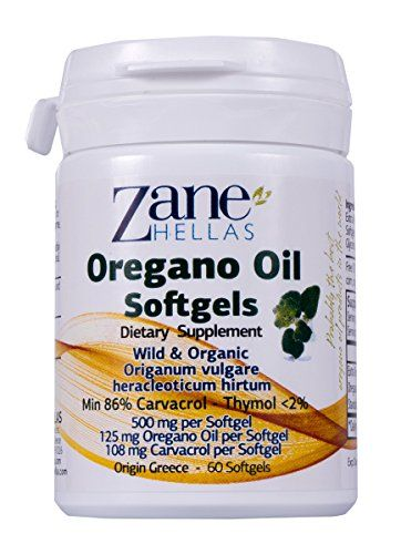 Zane Hellas Oregano Oil Softgels. Concentrate 4:1 Provides 108 mg Carvacrol per Serving. 60 Softgels- Capsules with Pure Essential Oil of Oregano and Organic Extra Virgin OIive Oil.  ZANE HELLAS is Well Known for Delivering the Highest Quality Oregano Products in the World, and Specializes in the Development, Manufacture and Distribution of Pure, Organic Oregano Oil Products. Oregano is an Aromatic Plant which has been Considered a Health-Promoting Herb Since Ancient Times. There are M...
