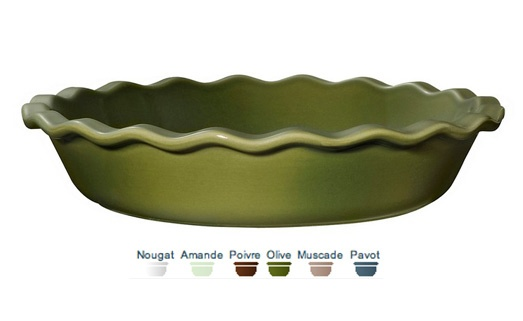Pie dish. 26x26x5 cm (1,40 L) A good clafoutis, which melts in your mouth, needs to be cooked slowly and evenly without drying out. The secret is to use a ceramic dish. And you can serve it directly on the table, still warm, without turning out.  Call 905·885·9250.