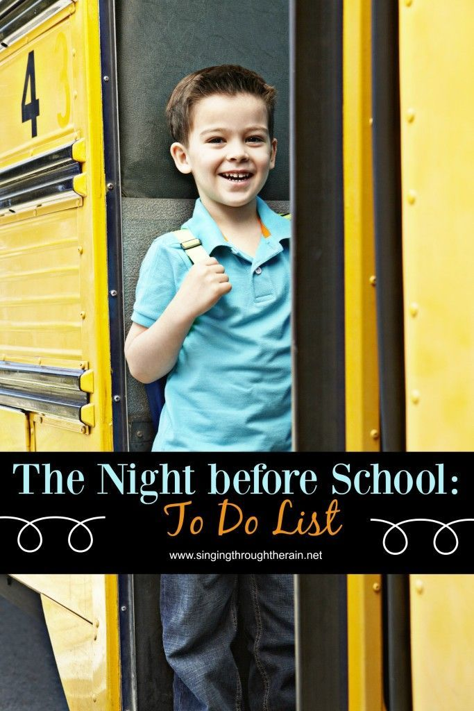 The Night Before School: To-Do List - One of the biggest challenges that parents face on a weekday is getting the kids to school. Whether you must drop more than one kid off, have to go to work right after you drop them at school, or just struggle with getting everyone ready in the morning, school mornings can be hectic. Fortunately, there are a few things that you and your kids can do the night before school, to prevent the crazy bustle in the morning.