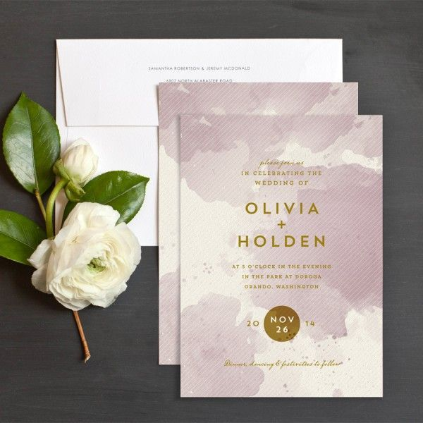 Painterly Chic Wedding Invitations by Racheal Marvin Creative | Elli