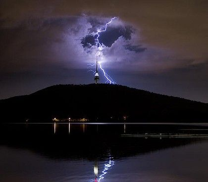 Lightning in Canberra