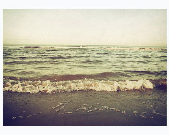 Today I am longing for the sea... :: Nostalgic sea photography print 5x7 inch by MyMonography