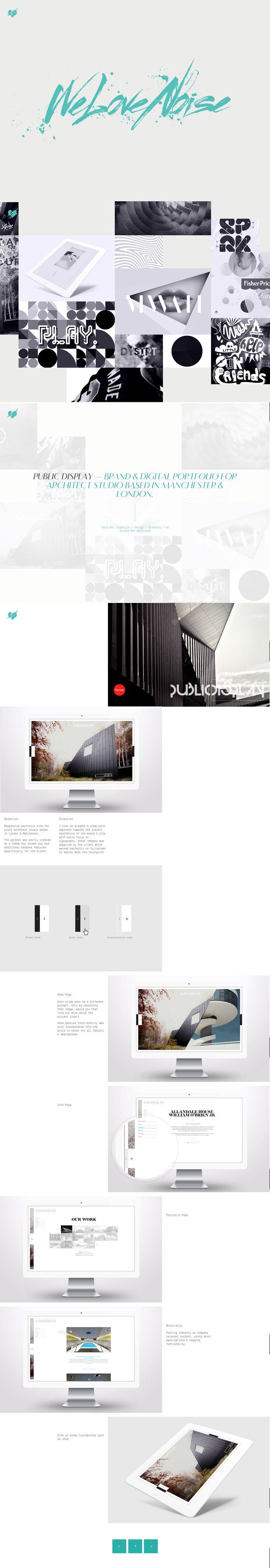 WeLoveNoise  http://www.awwwards.com/web-design-awards/welovenoise #Web #Interactive #Clean #Minimal #Responsive #Design #UnusualNavigation #Portfolio