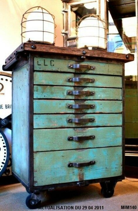 Taboret - Nice little storage unit on wheels for an artist.