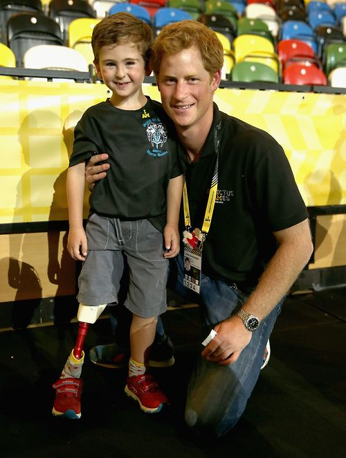 Prince Harry, with the next generation of Invictus Games athlete. I can't decide who's cuter! :-)