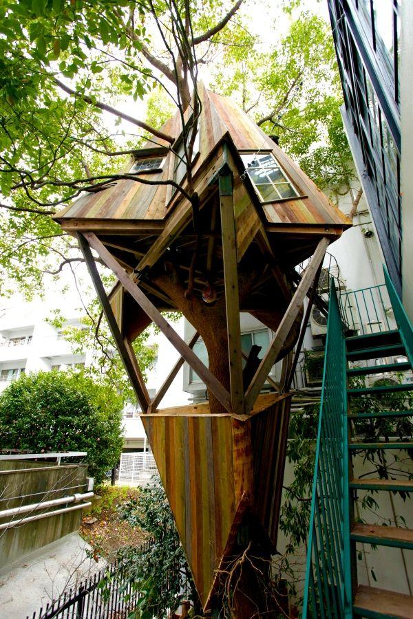 Stelzenhaus bauen Baum-Shirogane Kobayashi Architekt