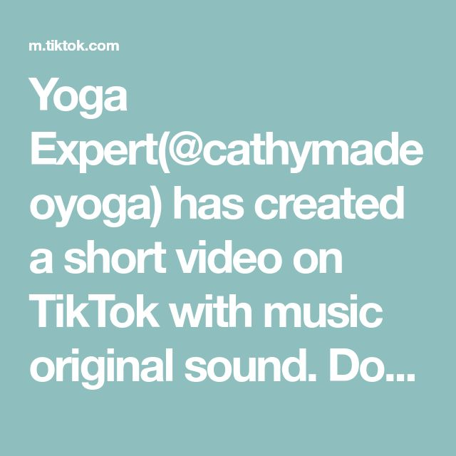 Yoga Expert Cathymadeoyoga Has Created A Short Video On Tiktok With Music Original Sound Don T Do Hours Of Ab Starbucks Recipes Low Carb Pizza The Originals