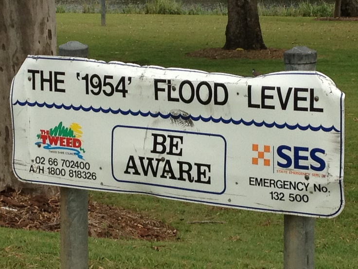1954 flood level, Murwillumbah (Australia)