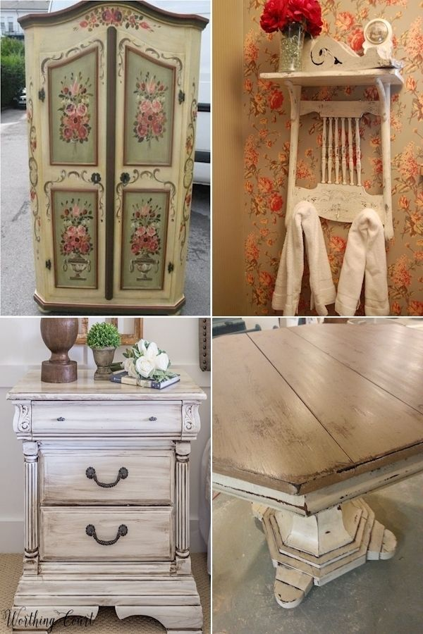 Shabby Chic Wood Furniture Painting Old Furniture Shabby Chic Shabby Chic Painting Ideas In 2020 Shabby Chic Furniture Painting Old Furniture Shabby Chic Painting