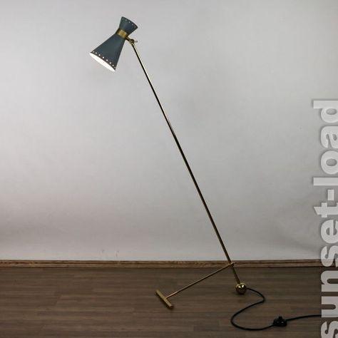 Alte Diabolo Steh Leuchte Boden Lampe Design Italien Messing 50er Jahre MCM Lamp | eBay