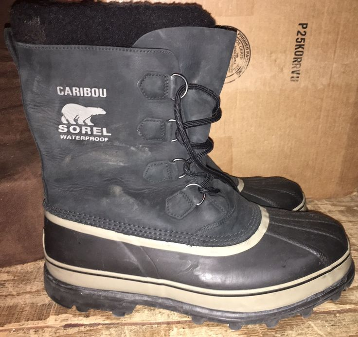 Sorel Caribou Men's Snow Boots Size 13 Insulated and Waterproof EUC