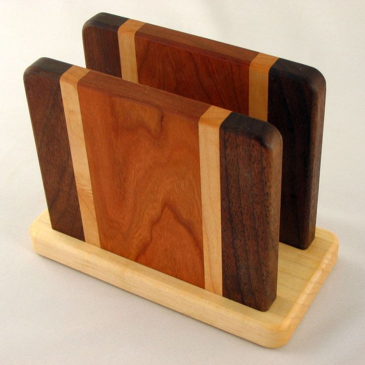 Wood Project Napkin Holder Here is another source for a massive amount of wood project ideas www.youtube.com/watch?v=qmsucnGH_IU
