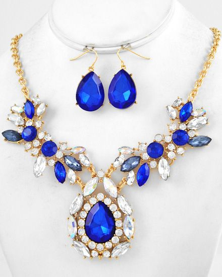 84 best Royal Blue and Gold Jewelry images on Pinterest Gold