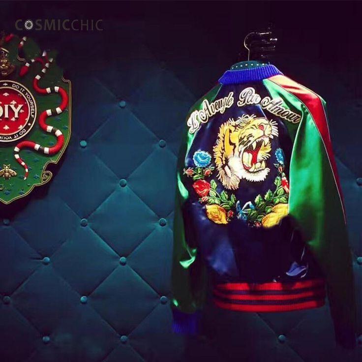 Women Bomber Jacket Coat Reversible Baseball Jackets Sukajan Vintage T – Myhurrik9 Women's Fashion