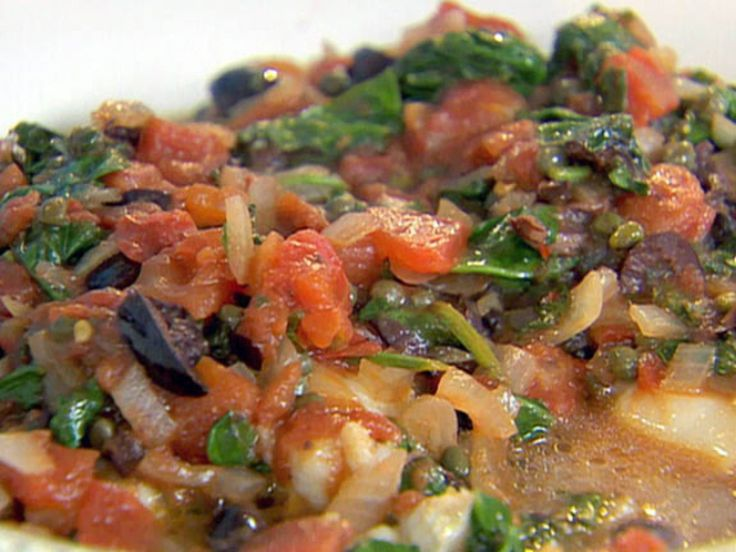 Get this all-star, easy-to-follow Fish with Tomatoes, Olives and Capers recipe from Ellie Krieger