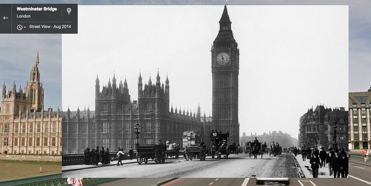 The Palace of Westminster, 1892 and 2014 | 12 Iconic London Locations Then And Now