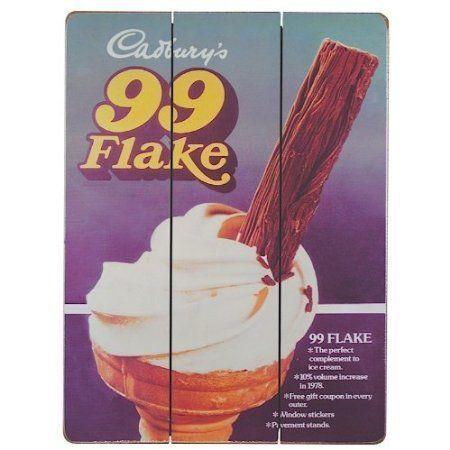 Cadbury's 99 Flake Wooden Sign