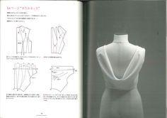 Lovely back drape illustration (in Japanese), I think from Pattern Magic 2