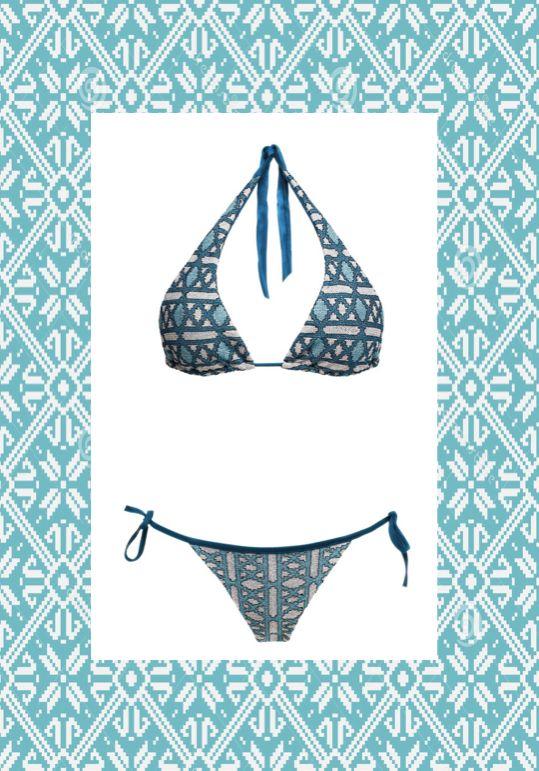 MITOS Geo bikini in petrol  #mitoswimwear #bikini #summer #petrol #sea #beach #mitos #moroccan