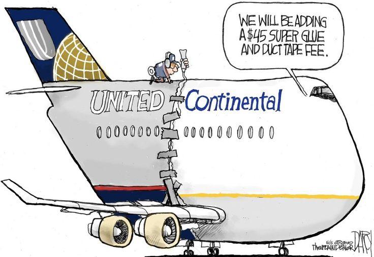 United-Continental merger: editorial cartoon | Flying high ...